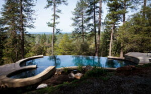 outdoors pool in the middle of the woods
