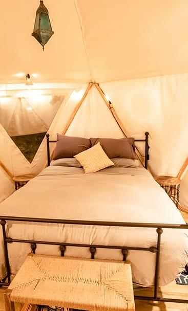 interior of blackberry yurt