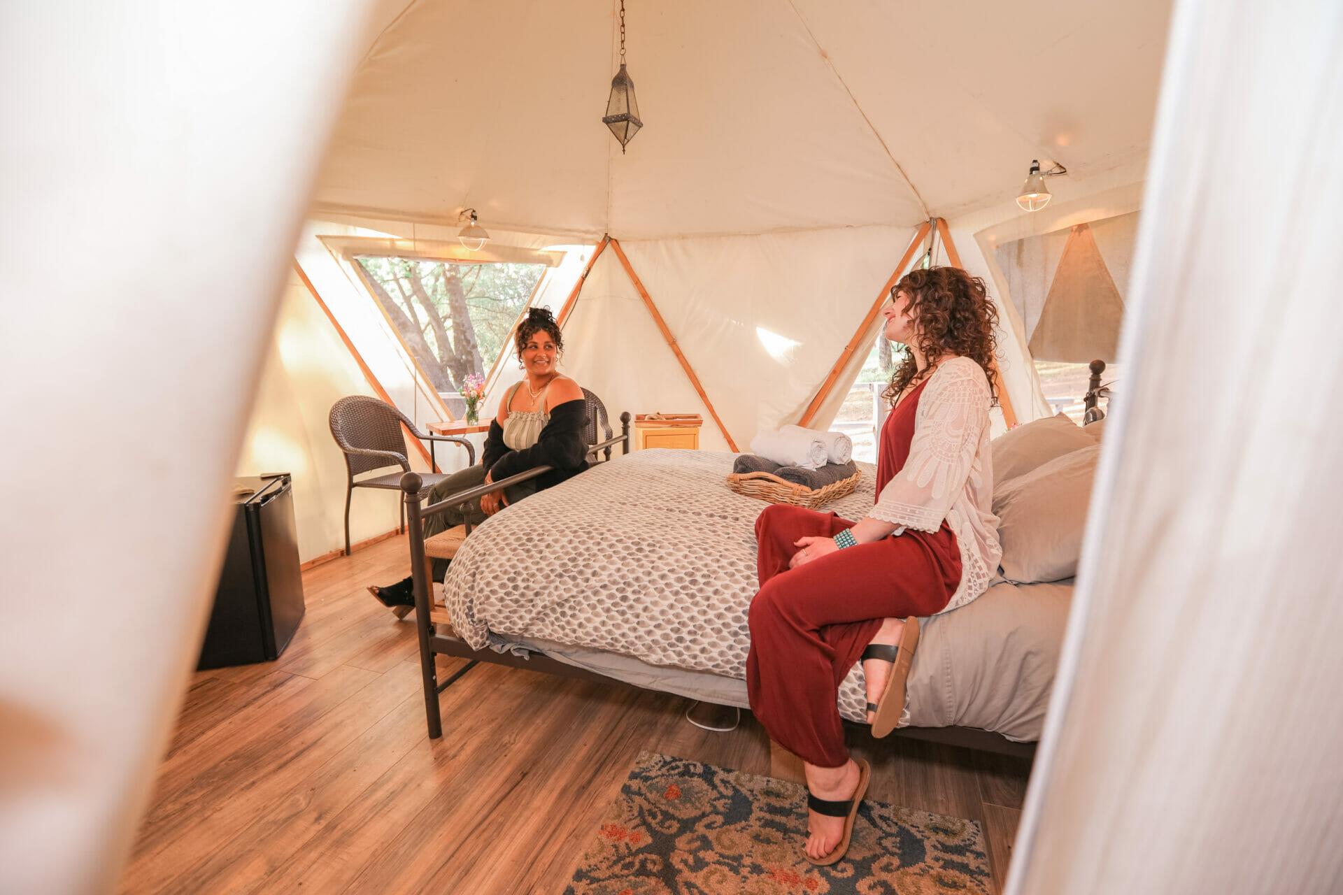 Ponderosa Yurt Interior