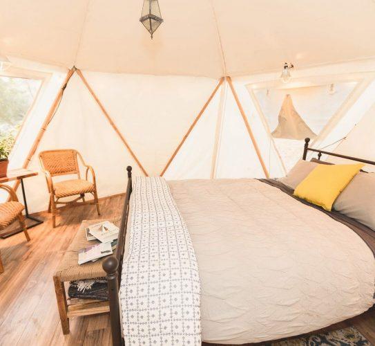 interior light view of ponderosa yurt
